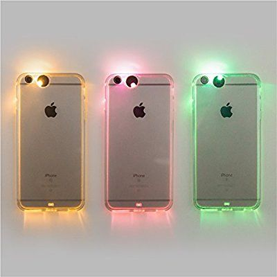 Winhoo iPhone 6 Plus /6S Plus Case,9 color in 1 LED Flash Case ,Can Change 9 Different Colors Incoming Call LED Flash Light Alerts Case Cover Skin For Apple iPhone (iPhone 6 plus/6S plus 5.5 inch)