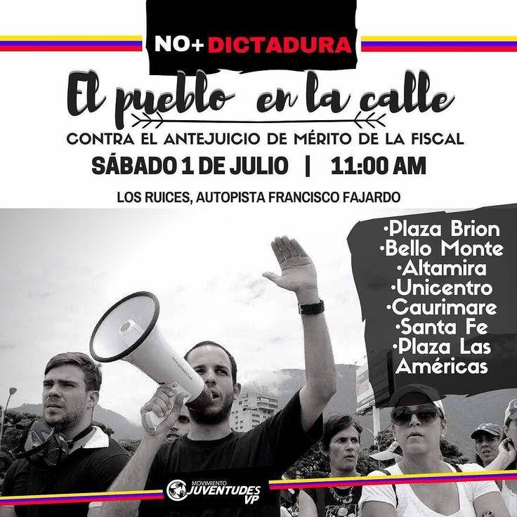 Mañana el pueblo sale a la calle unido. No podemos seguir aceptando fraudes de esta dictadura descarada que se burla de los venezolanos. El momento es ahora! Si se puede! #RescatemosLaDemocracia