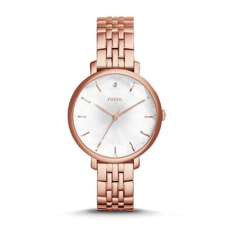 Fossil 36 damen armbanduhr analog edelstahl es3130