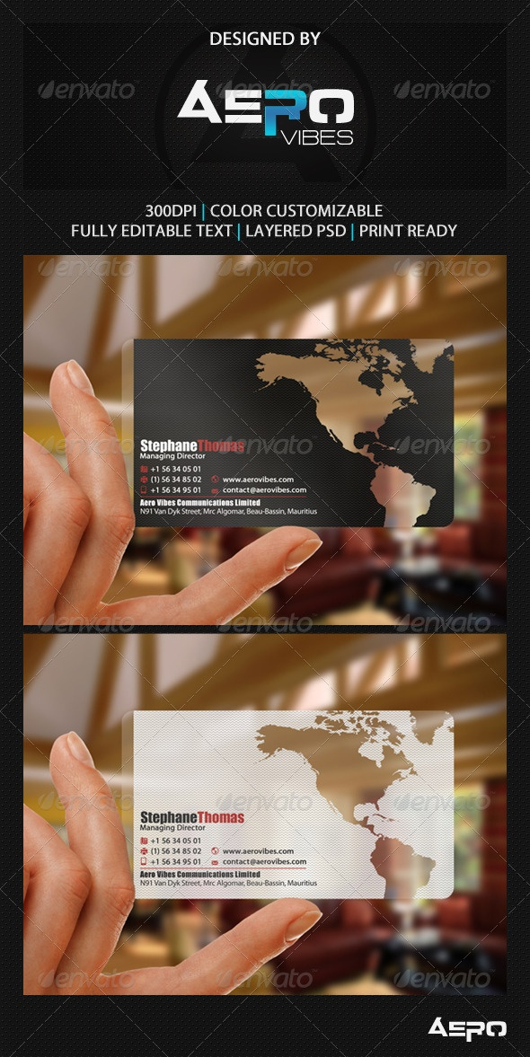 Global Translucent Business Card