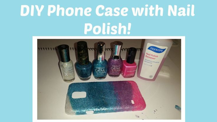 DIY Glitter Phone Case using Nail Polish