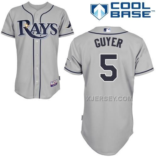 http://www.xjersey.com/rays-5-guyer-grey-cool-base-jerseys.html RAYS 5 GUYER GREY COOL BASE JERSEYS Only $43.00 , Free Shipping!