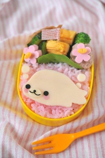 Would you go to the trouble of colouring rice? Totally cute but a lot of work.