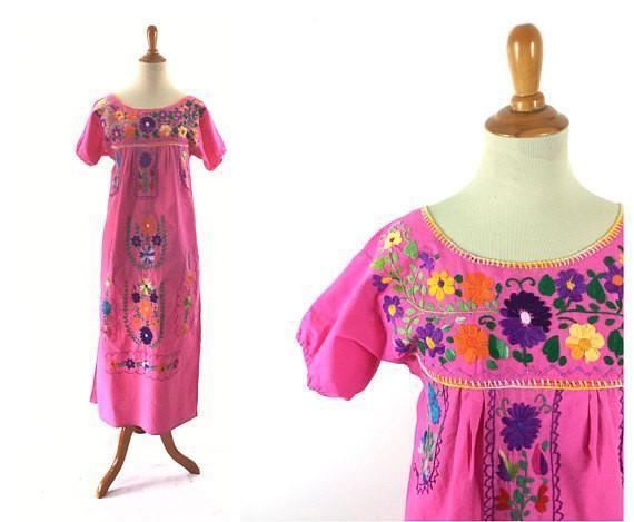 Mexican bohemian dress,