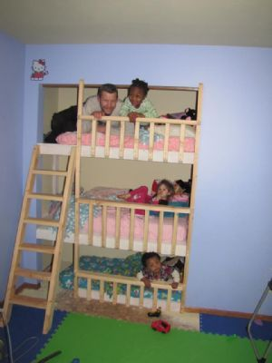 3 tier bunk beds at christmas we could not post pics of aiden