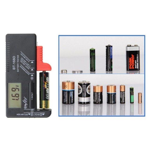 Battery Tester Battery Diagnostic Tool Digital Display Checks Battery Levels For 1 5 V 9 V Batteries Review Diagnostic Tool Batteries Testers Tester