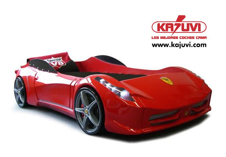 Coche cama F1 Spider red www.kajuvi.com