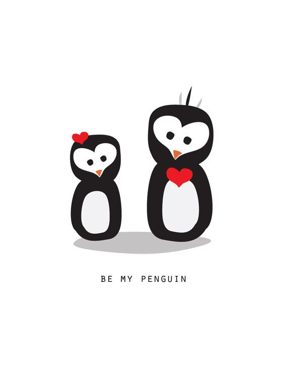Be My Penguin (Valentine's Day Card) by TheBoxBerry on Etsy, $4.00