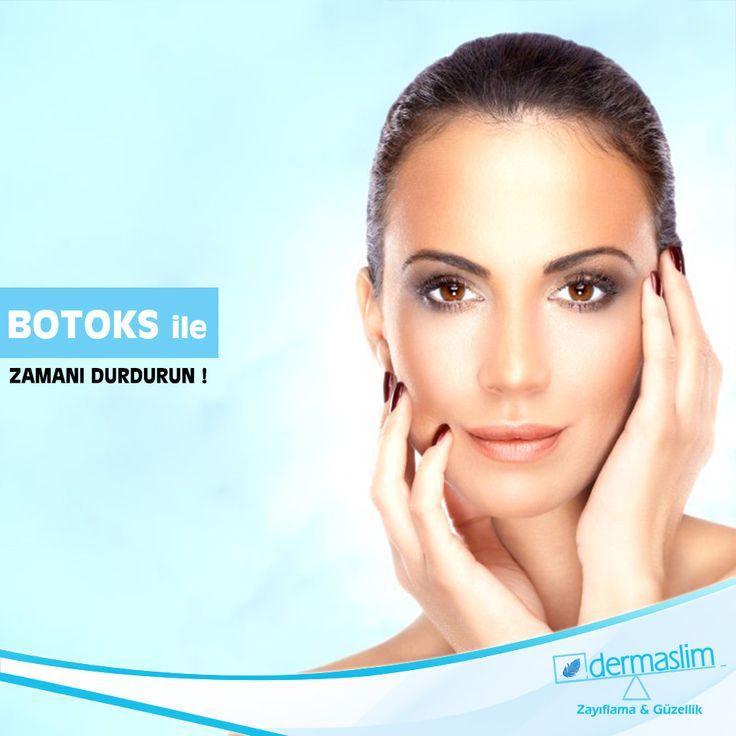 Botoks ile zamanı durdurun ! Göz çevresi, ağız çevresi ve burun çevresi gibi mimiklerinizi sık kullandığınız yüz hatlarında kırışıklıklar meydan gelir. Botox ile 10 dakikalık bir uygulama ile kırışıklıklardan kurtulabilirsiniz. Detaylı bilgi için : 216 688 00 26