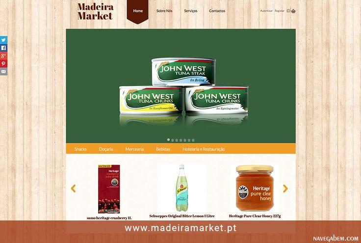 Criação e desenvolvimento do website  http://www.madeiramarket.pt/ #madeira #market #webdesign #responsive #navegabem