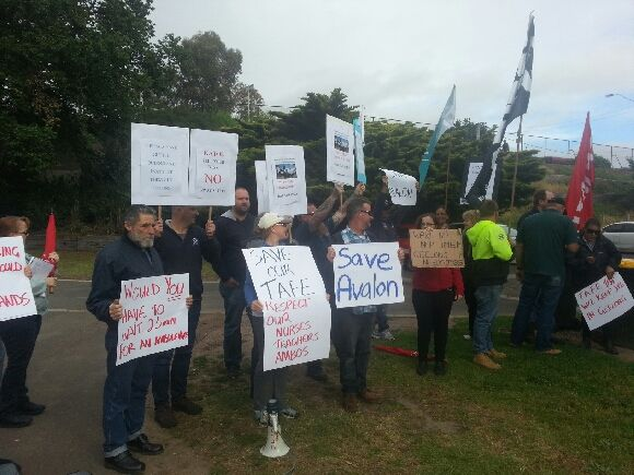 Union members from Geelong Regional Trades and Labour Council suggest other ways to spend the $500,000 Premier Napthine has committed to dredging Barwon river.