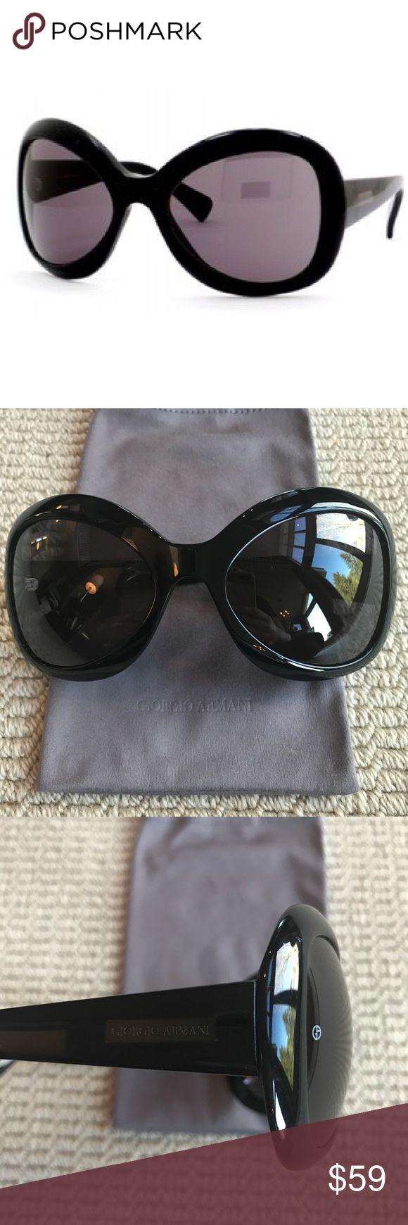 Giorgio Armani Black Butterfly Sunglasses Giorgio Armani black butterfly shaped sunglasses with smoke colored lenses. Style is 552/S color 807. Comes with original sunglasses bag. Giorgio Armani Accessories Sunglasses