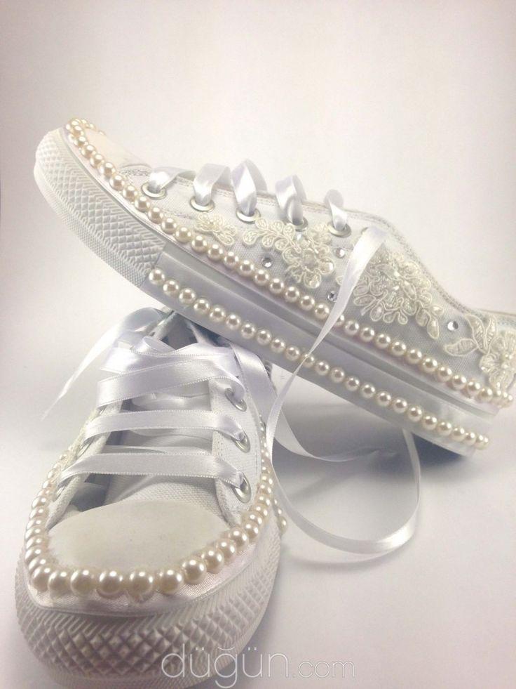 Dantelli Gelin Ayakkabıları - Ayakkabı ve Aksesuar Modelleri