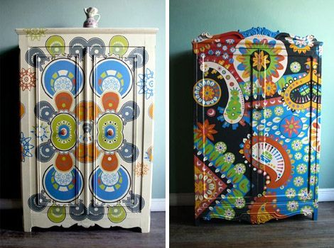 crazy painted wardrobe