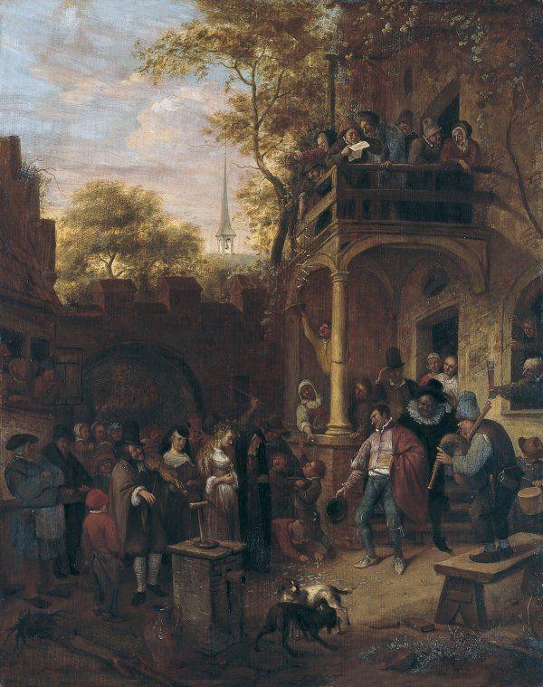 Boda Campesina Jan Havicksz Atribuido Steen World Art Landscape Paintings Art