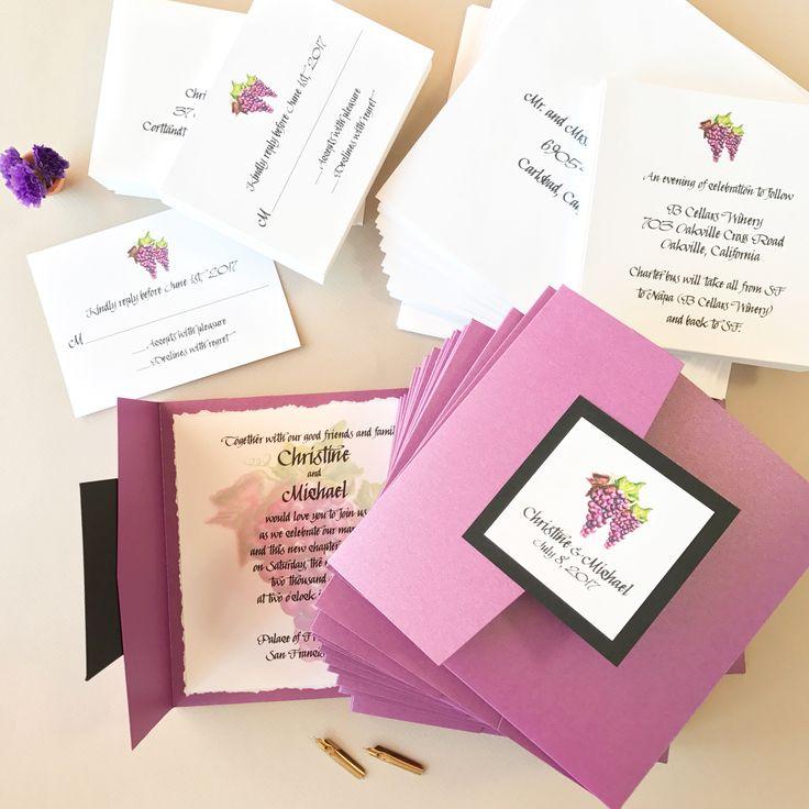 wedding invitations for less than dollar%0A Custom watercolor wedding invitations by artist Michelle Mospens        original art    Mospens