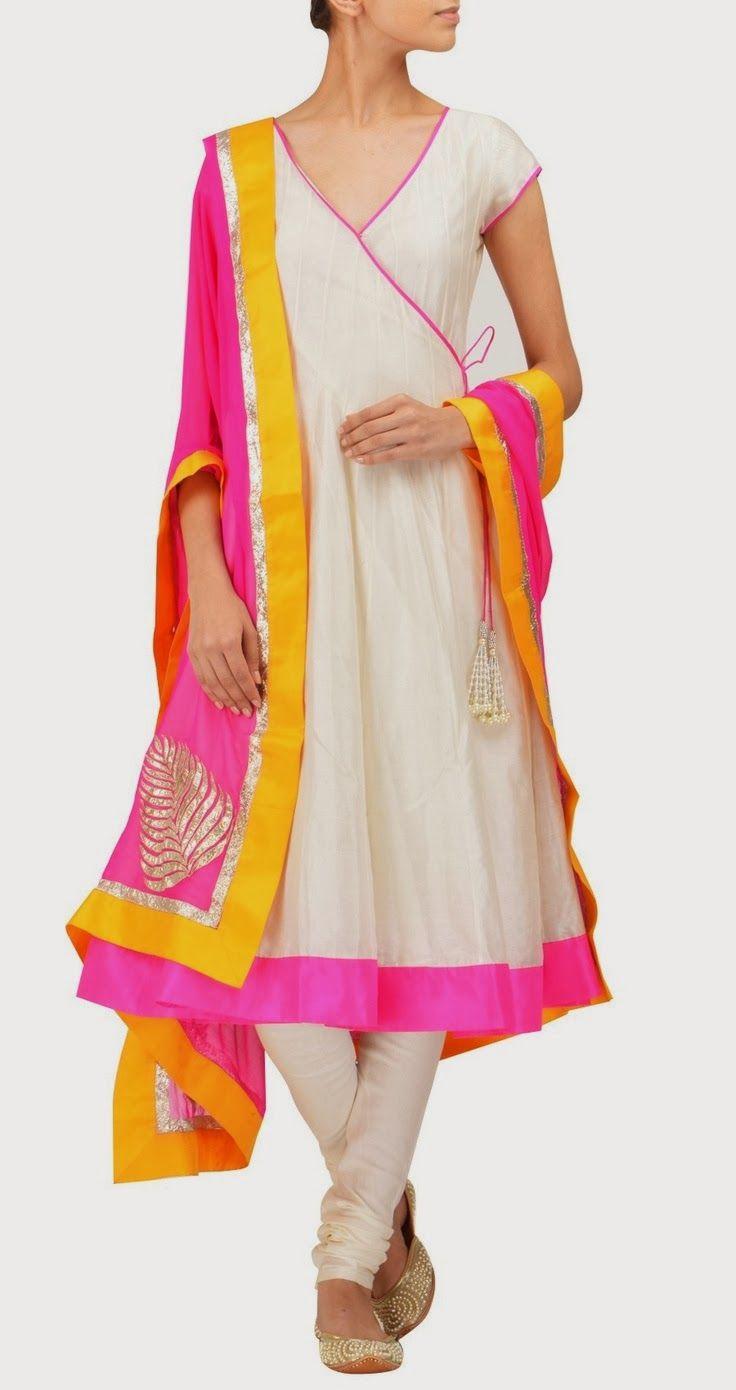 Beautiful Angrakha & Churidar by Amrita Thakur https://www.facebook.com/pages/Amrita-Thakur/112558018840657 via CitiGirlScene CitiGirlScene