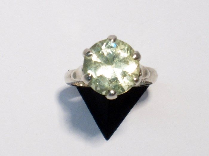 Taxco Sterling Neon Lime Chrysoberyl Ring