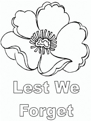anzac day lest we forget color page for kids