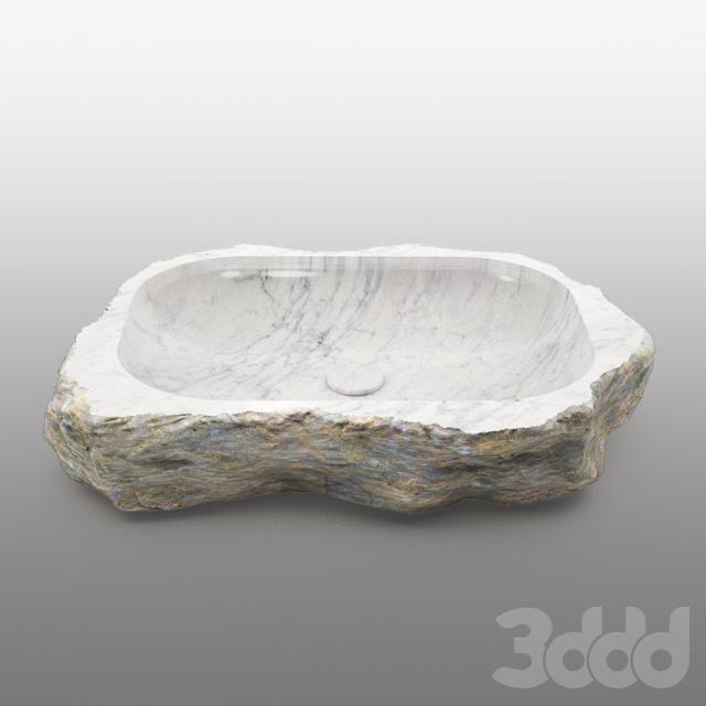 каменная раковина_stone sink