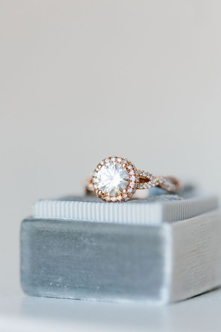 Cooltoned Winterinspired Styled Shoot Rose Gold Engagement Ringseattle