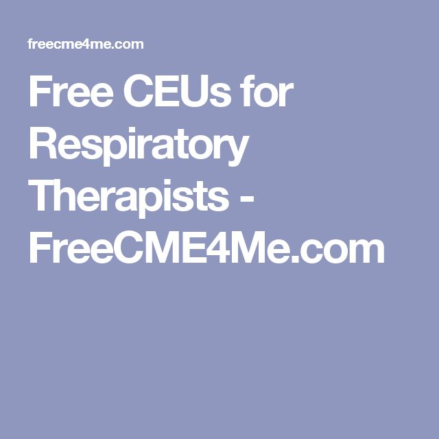 Free CEUs for Respiratory Therapists - FreeCME4Me.com