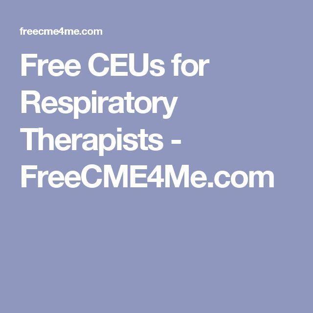 Free CEUs for Respiratory Therapists - FreeCME4Me.com