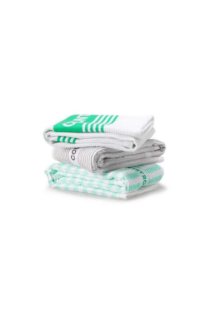 Our signature tea towel set gets an update with a modern blend of bold and fine stripes in seasonal colours. Perfect for the home or gifting. Country Road Home - Spring 2014