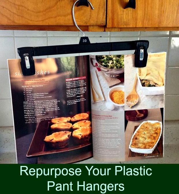 Repurpose Your Plastic Pants Hangers #repurpose #hometips