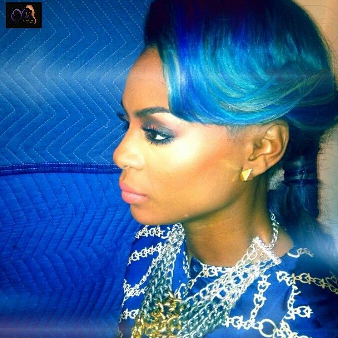 Sassy looks absolutely RADIANT wearing her custom colored ONI Hair♥ Https://onihair.bigcartel.com #vh1 #blackink