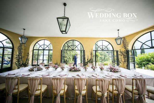 Romantic reception dinner at Villa Balbianello!