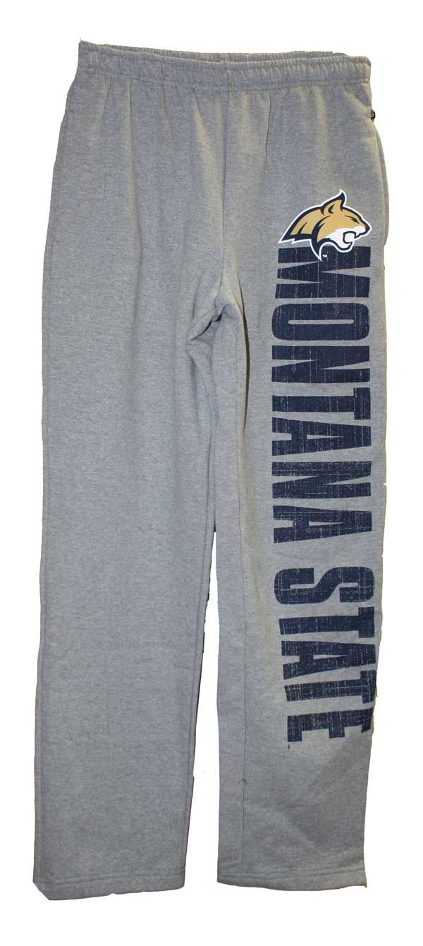 Sweatpants, Gray, Montana State, MSU Cats on Back, Jansport | MSU Bookstore