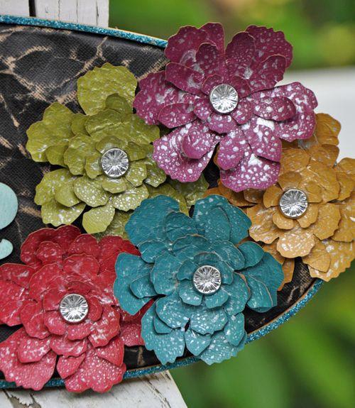 Glimmer mist and Sizzix: April Derrick, Scrapbooking Handmade, Ranger Perfect Pearls, Hand Made, Handmade Flowers, Handmade Paper