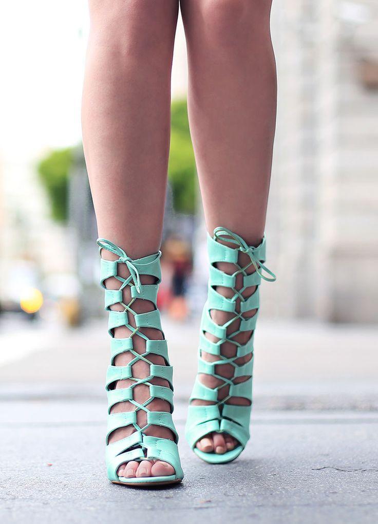Style name: Legendary   Lola Shoetique   Mint   Lace Ups   Heels   Summer   Fashion