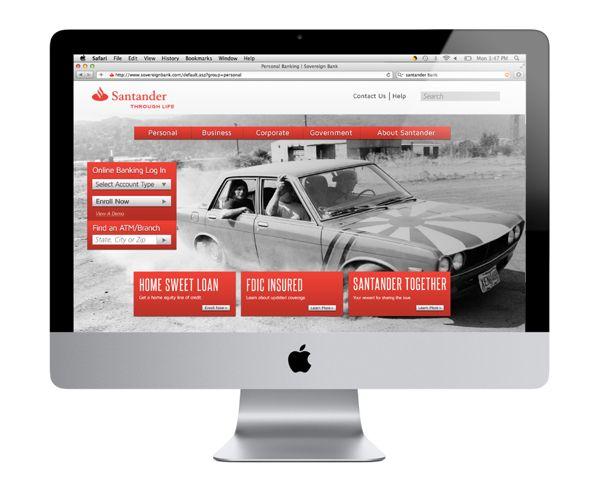 Santander Bank webpage