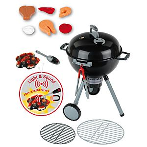 Weber Kettle Barbecue with Light and Sound I like toys that teach children things about real life. Learning can be fun, especially with Klein-Toys. Klein makes very realistic versions of man…