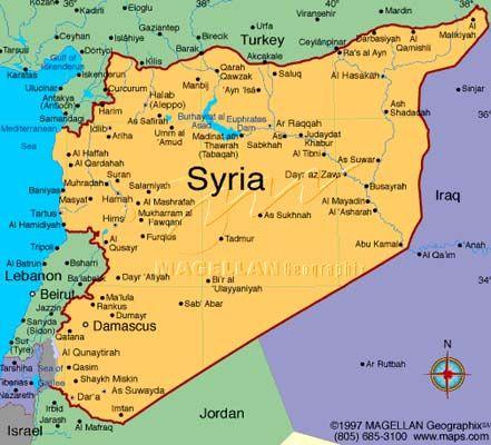 República Árabe Siria  Capital Damasco 22.530.746 habitantes (2012) Idioma Árabe. Moneda Libra siria (SYP)