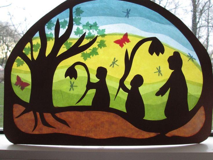 Fensterbild,Jahreszeitentisch,Waldorf,Transparent von Puppenprofi auf DaWanda.com