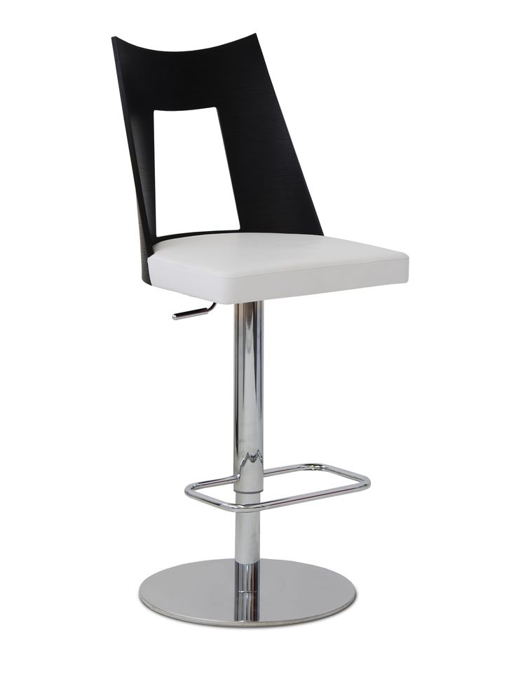 This is the City R Barstool with Heavy Round Weighted base No. 51. Choose from 5 different bases, 4 different shades of Laminated Ply Backs and 56 Colours of upholstery. There are matching dining chair seats with 10 different styles of leg for open plan kitchen/ dining areas