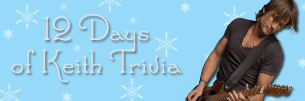 #KeithUrban - Thank You For Entering the 12 Days Trivia Contest!