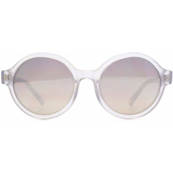 Hook LDN - Pavilion Clear Sunglasses (1.682.870 IDR) ❤ liked on Polyvore featuring accessories, eyewear, sunglasses, retro round sunglasses, round glasses, round lens sunglasses, clear acetate glasses and acetate sunglasses