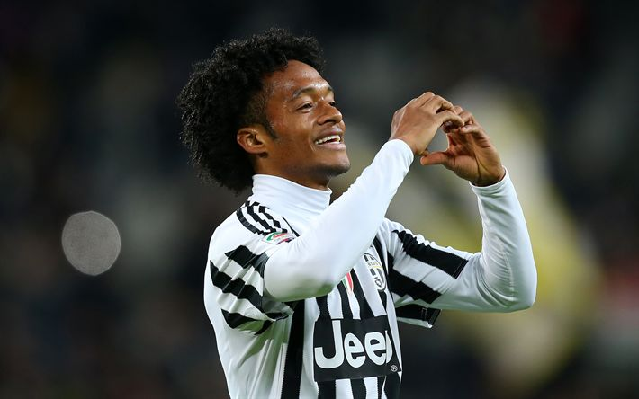 Download wallpapers Juan Cuadrado, Juventus, football, Serie A, Italy, Colombian football player