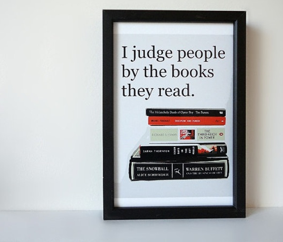 People and Books Print