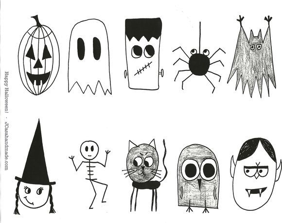 25 unique Halloween pictures to draw ideas on Pinterest