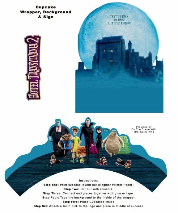 Hotel Transylvania 2 printable cupcake wrappers party decorations