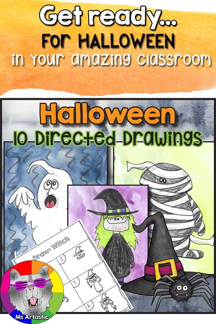 Halloween Directed Drawing Art Lessons For Kids Back To School