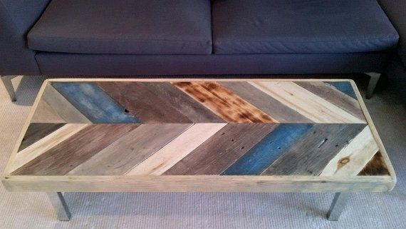 Herringbone coffee table chevron coffee table unique