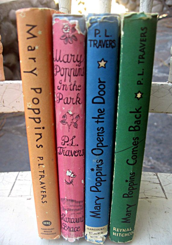Vintage Mary Poppins books set of 4 with by LittleBeachDesigns, $59.00