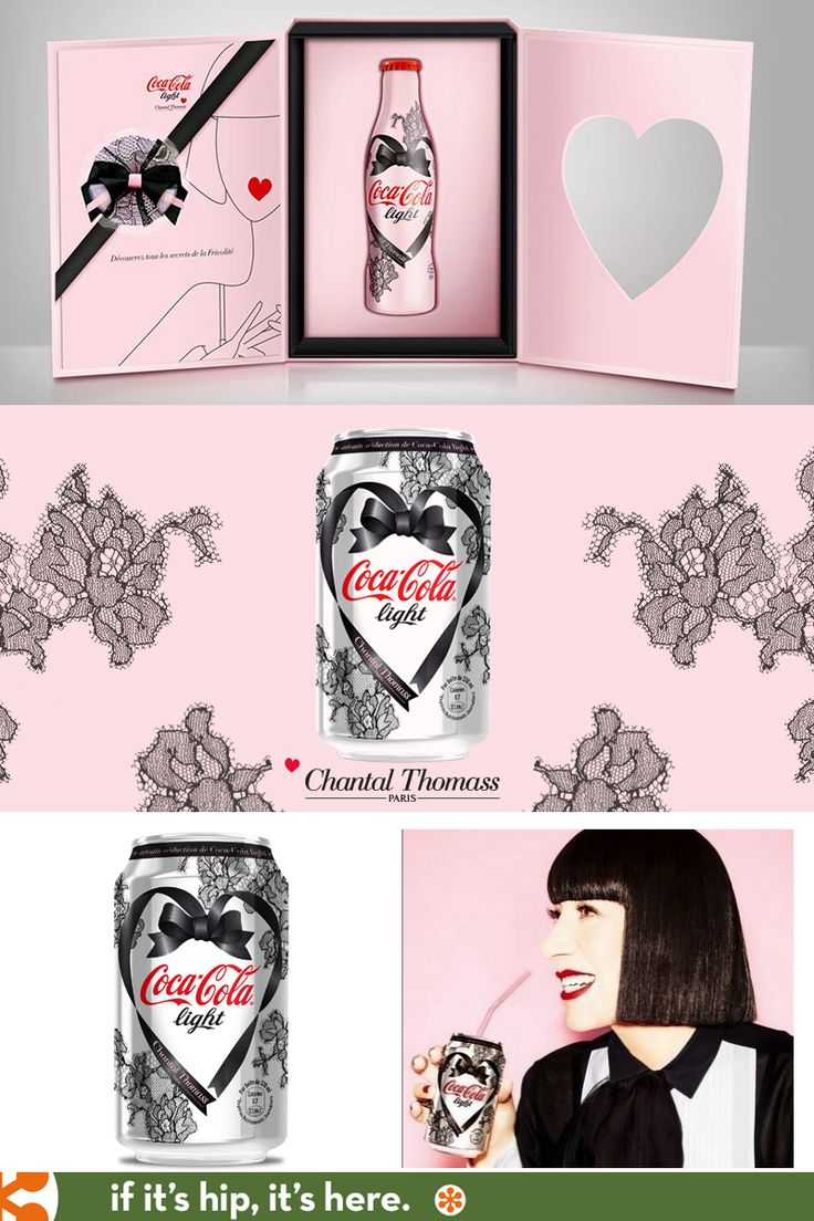 French lingerie designer Chantal Thomass  creates special limited edition cans and bottles for Coca Cola Light.