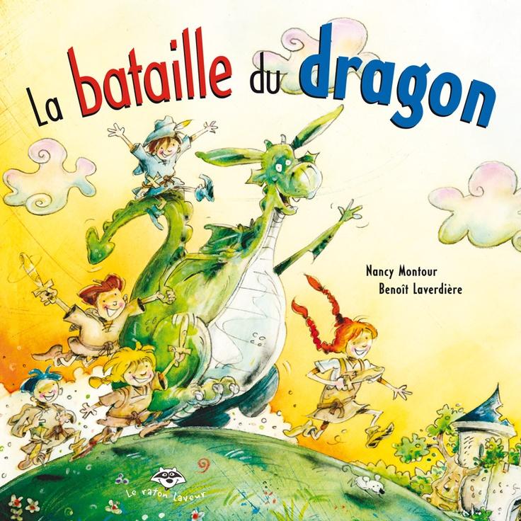 La bataille du dragon (série Pinoche), Nancy Montour/Benoit Laverdière- Dans un vieux château, le dragon Pinoche s'amuse avec des enfants à poursuivre un monstre imaginaire. Ce nouveau jeu promet d'être bien amusant, surtout que chacun a sa vision de la créature. Elle a parfois une tête de dromadaire avec de longues moustaches, parfois une queue de crocodile avec des oreilles de cochon...